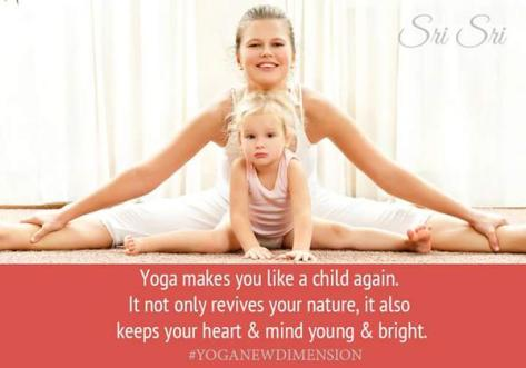 Yoga makes You a Child Again