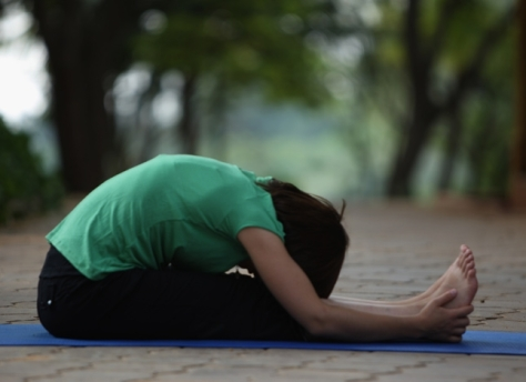 Paschimottanasana to reduce belly fat